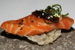 Snack - Salmon Sashimi Cracker, Avocado & Nori