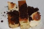 Banana: banana cream, banana cake, caramelized banana, coco crumbs, burnt meringues