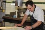 Chef James Knappett (@jamesknappett) preparing the menu for subsequent evenings.