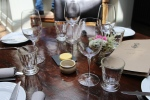 The Harwood Arms table setting