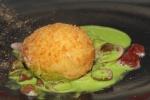 Crispy duck egg with mushrooms; wild garlic and duck ham £10.50