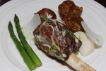 Braised shank of Hoggetlamb with turnips, wild garlic and Gentlemen's relish £23.00