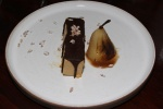 Treacle ice cream with stout and pear £8.50