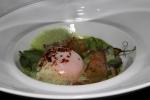 L'OEUF DE POULE - Soft boiled egg on pea purée, Iberian ham flavour