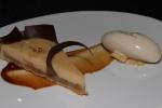 LA TARTE - Peanuts butter and banana tart with banana ice-cream