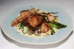 Veal sweetbread and tongue with spaetzle, romaine lettuce, monk's beard, shallot velouté and pancetta (+£3.00)