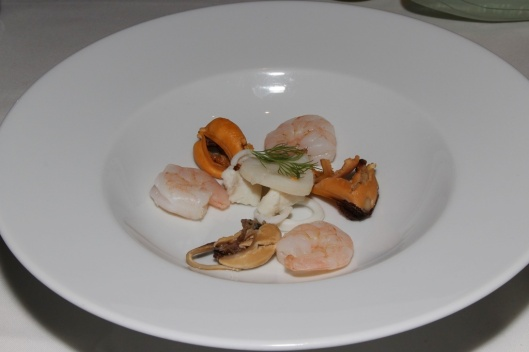 Seafood Broth - mixed seafood in coriander flavoured broth