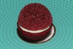 Amuse Bouche - Aerated Beetroot Macaron with Horseradish Cream