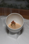 JELLY OF QUAIL, CRAYFISH CREAM - Chicken Liver Parfait, Oak Moss and Truffle Toast
