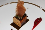 ROAST FOIE GRAS - Rhubarb, Confit Kombu and Crab Biscuit
