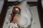 """SOUND OF THE SEA"" raw fish, 'sea foam' and 'edible sand'"