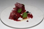 New Season Beetroots with Smoked Eel and Dried Olives