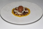 Whipped Chocolate Carmel with Frozen Jasmine Tea and Citrus