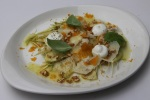 Carciofi crudi - raw artichokes, buffalo yogurt, bottarga. senape $9