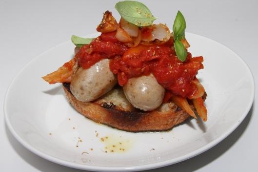 Salsicce ciociare - ciociare-style fennel sausage, fennel, bell pepper, grilled ciabatta $12