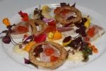 B.C. Albacore Tuna Sashimi - sweet potato, citrus soya, bonito, shoshito pepper