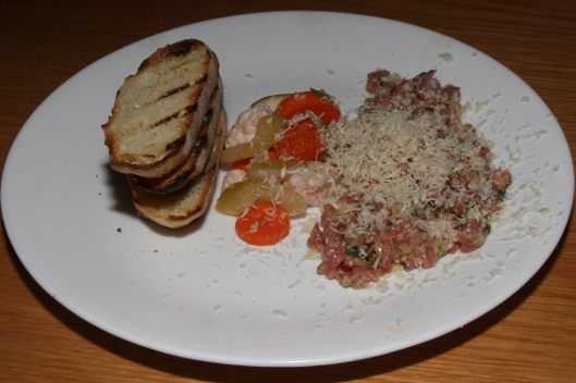 Steak Tartare - horseradish, pickles, grilled bread