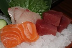 Sashimi - salmon, tuna and snapper