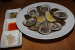Freshly shucked oysters - apple shallot mignonette / lemon / habanero / horseradish $3.00 each