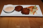 Crab cakes - panko crusted / spicy tomato aioli / coleslaw [Compliments of chef]