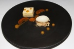 Apricot mousse - brown butter, lavender, white chocolate and thyme ice cream