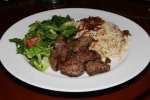 Beef Kebab (local) - skewer of tender veal filet
