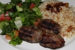 Kefta kebab - juicy skewer of middle eastern spiced mixed ground lamb and beef