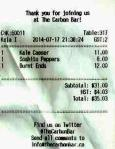 The Carbon Bar (Gratuity $9.00)