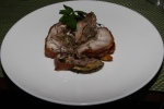 Van Den Brook Farm Porchetta with Roasted Summer Root Vegetables, Parsley Salad
