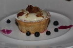 Almond Tart with Duck Egg & Sheldon Creek Cream, Summer Fruit, Maple Rosemary Almonds