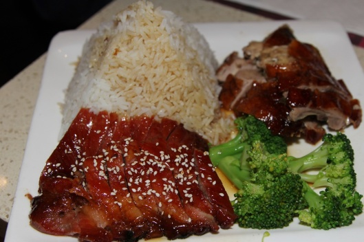 LC06 Rice and Broccoli with BBQ Pork and Duck $7.95