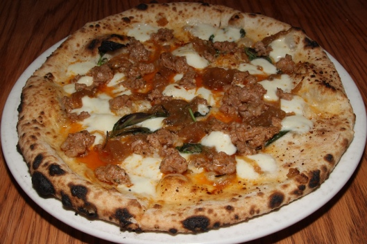 House-made Sausage - caramelized onion, mozzarella, chili oil $16.00