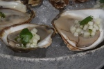 Rocky Point Oysters, Apple Minuette, Coriander $18.00