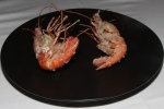 Spot Prawn, lightly deep fried, Tapioca Flour, Garlic Oil and Tamary