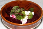 Smashed beets with ricotta and pickled beet juice $6.00