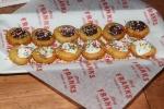 Chocolate and vanilla mini donuts