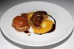 Seared Quebec Foie Gras - peach purée, marmalade, aged balsamic, pecan praline $ 25