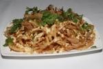 Shaved Onion Rings - miso mayo, coriander, bonito flakes, chili-lime dust $8