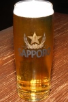 Draft Sapporo brewed by Sleeman in Guelph