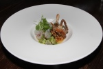 Soft Shell Crab romanesco, beet salad, new style sauce, radish and cauliflower