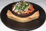 Smoked Salmon Potato Rösti - Salad Greens, Fried Capers, Cultured Cream
