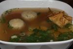 Jewish Ramen (egg noodles, matzoh balls, soft egg, brisket kreplach, veggies)