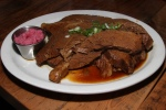 Braised Beef Brisket Braised Beef Brisket (natural jus, prepared horseradish) $18/34