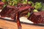 Sudbury venison, duck fat seared brussel sprouts celery root purée