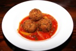 Arancini - traditional Italian risotto balls, mint, peas, over whipped baccala $9.00