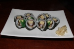 26. Futomaki - A traditional thick Japanese roll with eel, egg, cucumber and artificial crab $14.00
