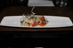 2012 shellfish competition - crab salad wrapped in lobster carpaccio with pickled mussel, puffed rice, scallion and tarragon