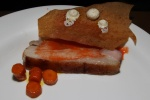 durocwilder … - from the Sebringville, Ontario duroc belly with soured carrot juice, honey butter and a wafer of spiced graham