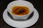 Soup - Carrot purée, potato, reduced Balsamic, dusting of cinnamon