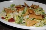 Spanish Caesar - romaine hearts, crispy serrano ham, manchego-anchovy dressing